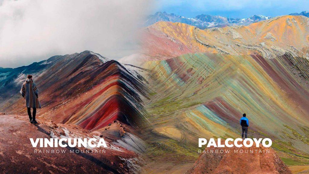 Vinicunca Rainbow Mountain vs Palccoyo Rainbow Mountain