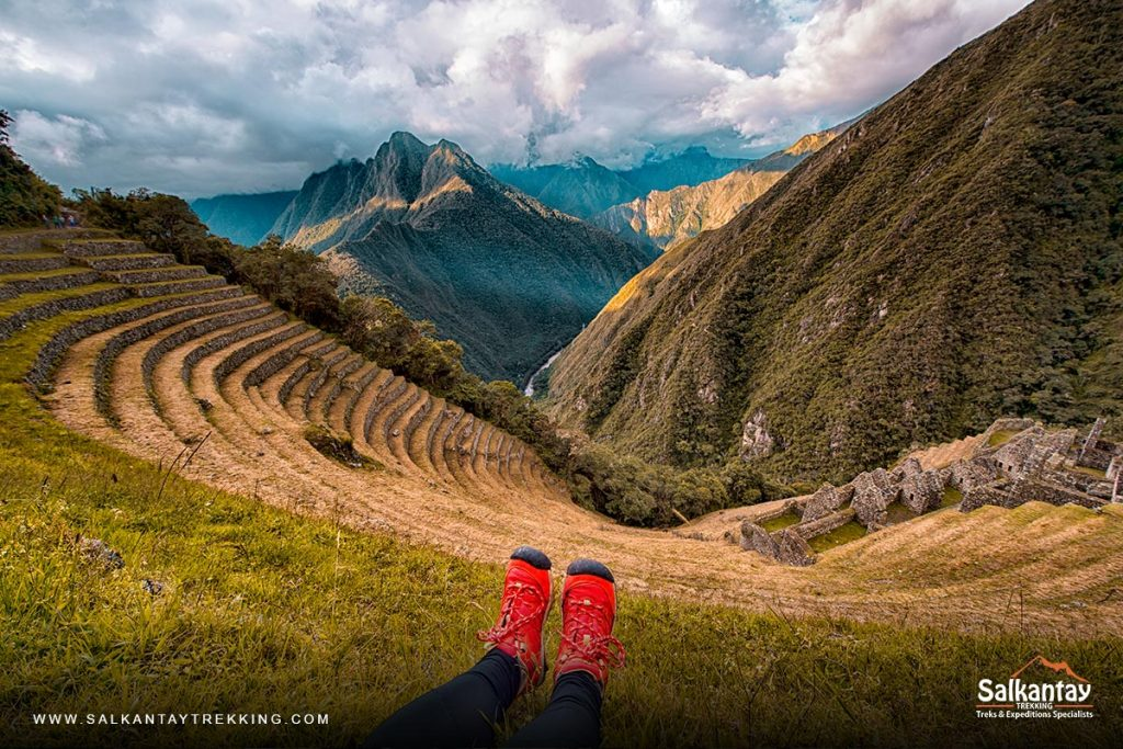 Archaeological site of Wiñaywayna on the Inca Trail to Machu Picchu