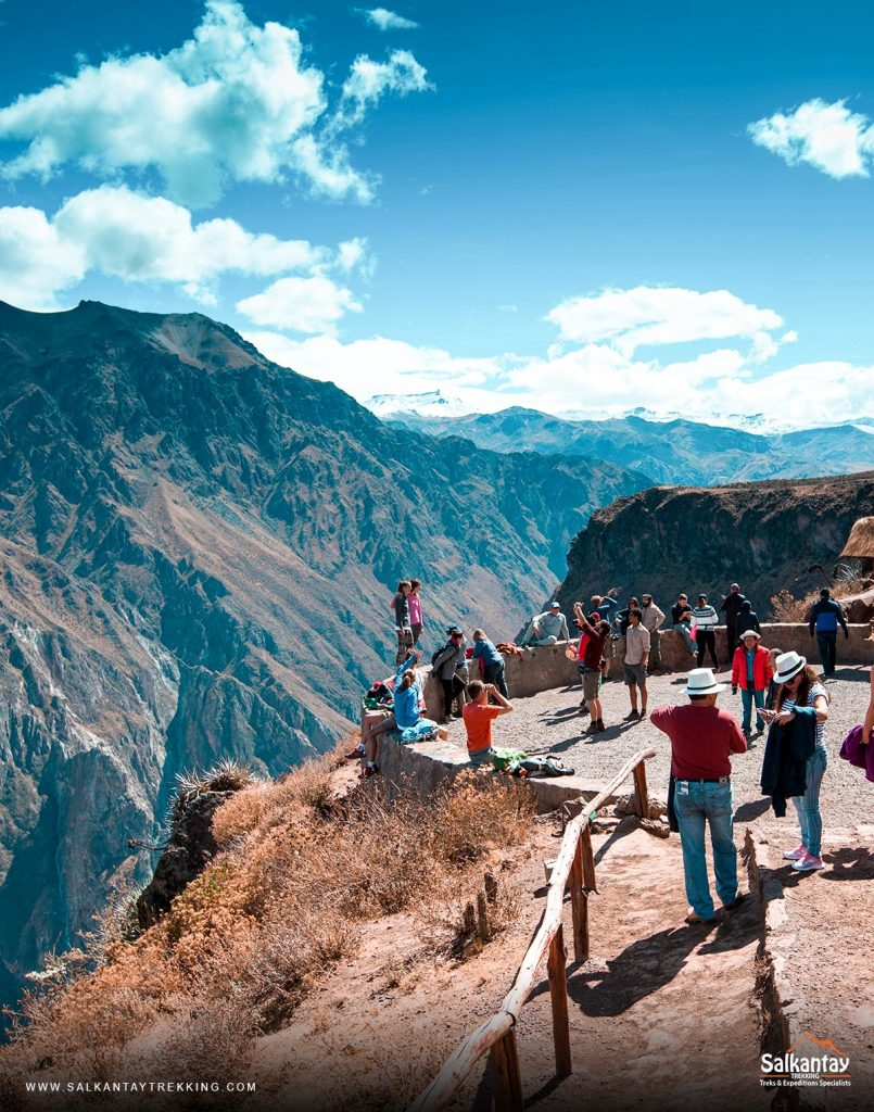 The Colca Canyon is located in a river valley in southern Peru and is famous for being one of the deepest in the world.