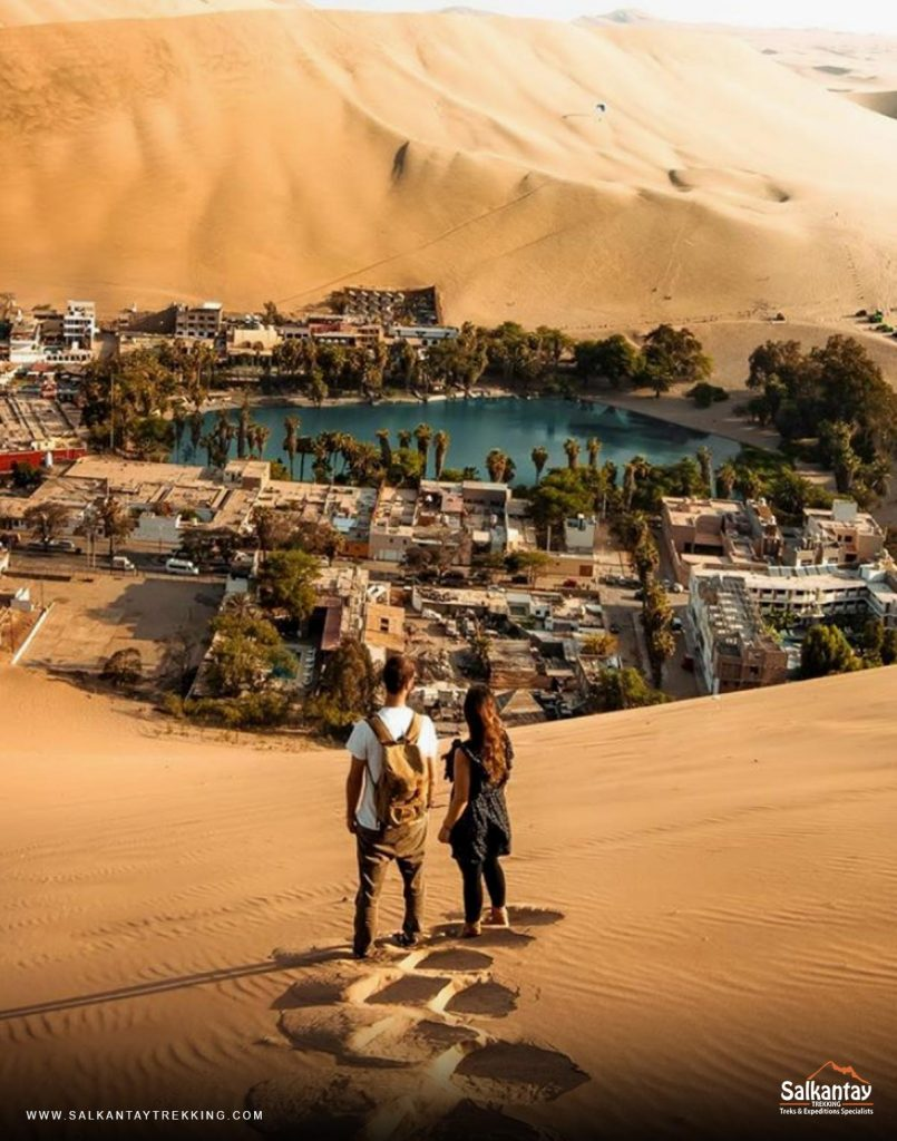 Huacachina is a desert oasis and a small village just west of the city of Ica.