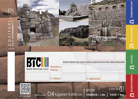 Boleto Turístico Cusco - Circuit 1