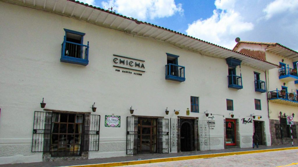 Visit the Chicha restaurant of famous chef Gastón Acurio in historic Cusco