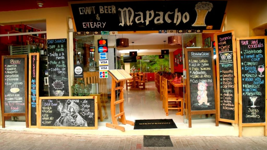 Mapacho Craft Beer & Peruvian Cuisine is one of the best restaurants located in Aguas Calientes.