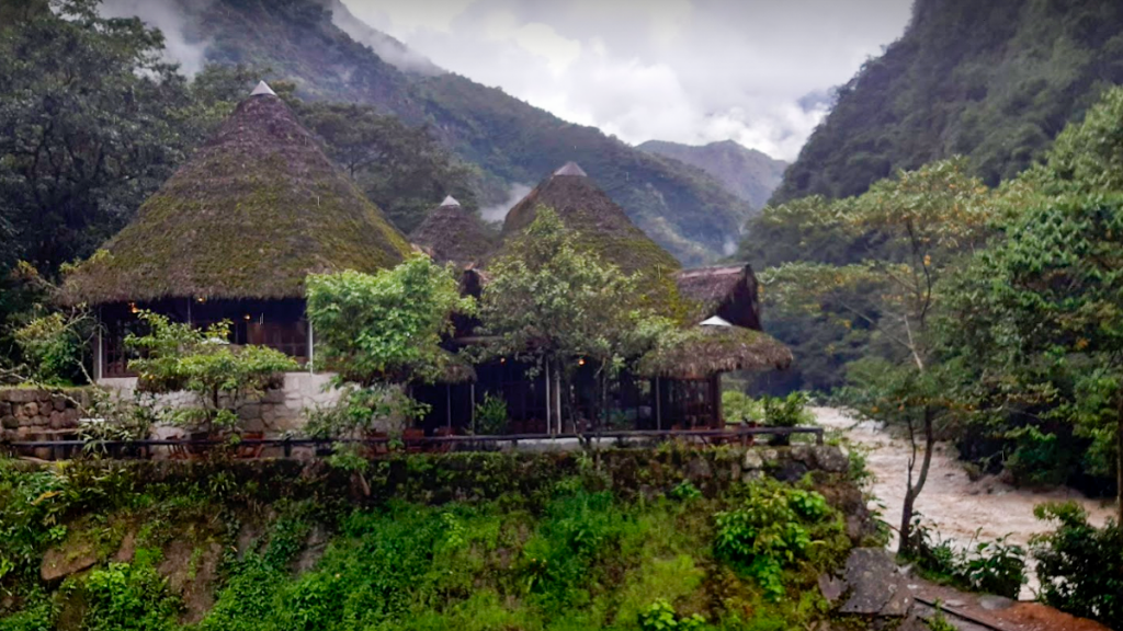 Inkaterra coffee located in Aguas Calientes Machu Picchu surrounded by nature