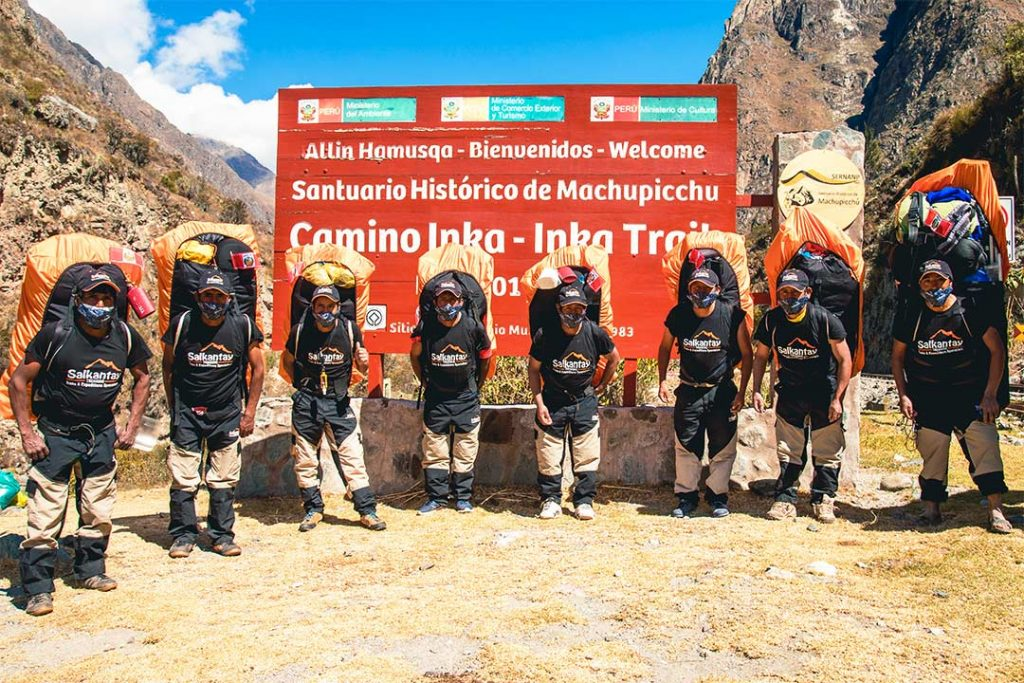 Porters-inca-trail-entrance