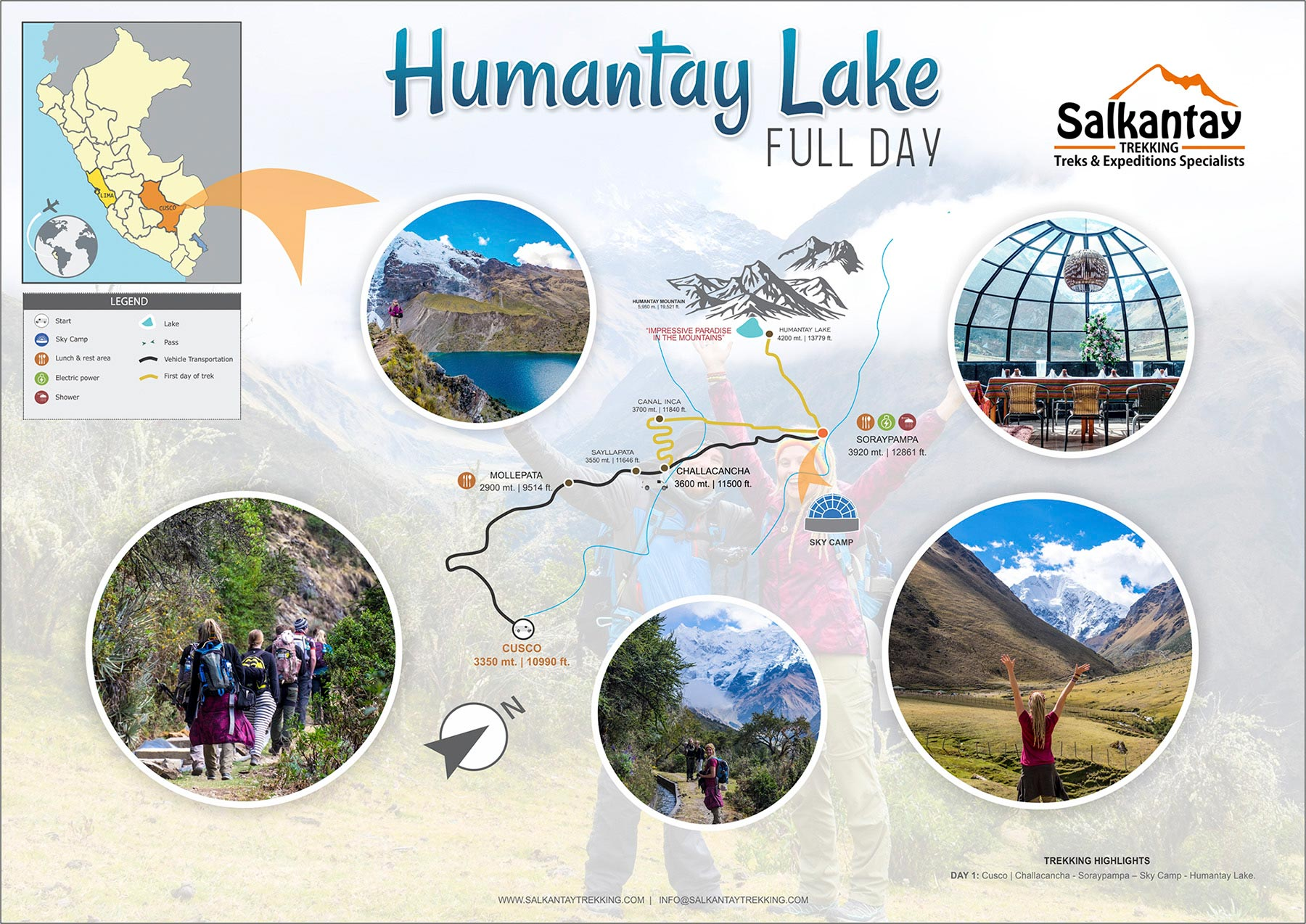 Humantay Lake Trek map and itinerary