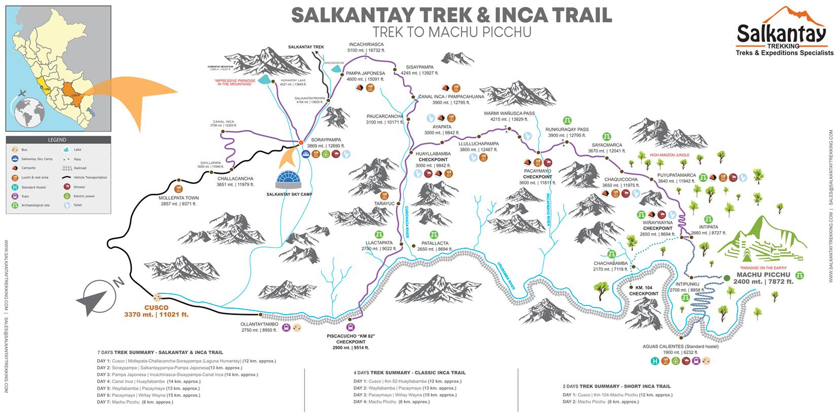 SALKANTAY - INCA TRAIL   Salkantay, Inca Trail, Machu Picchu on appalacian trail map, inca trail map, santa cruz trail map, mountain trail map, machu picchu trail map, huayna picchu trail map, tuckerman ravine trail map, fat man's pass trail map,