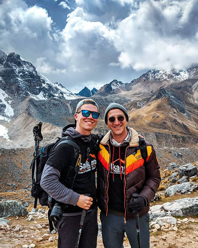 Hiking to Salkantay by @thehusbros